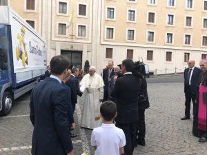 Beberoyal incontra Papa Francesco
