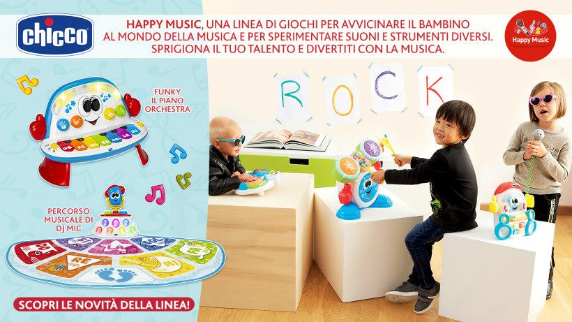 chicco happy music giochi musicali bambini da 1 anno in su